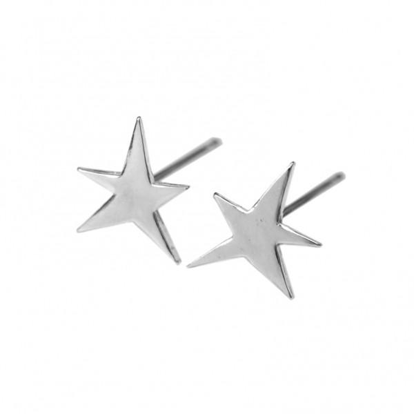 Petites boucles d'oreilles puces étoile collection Sati en argent 925/1000  Sati 32,00€