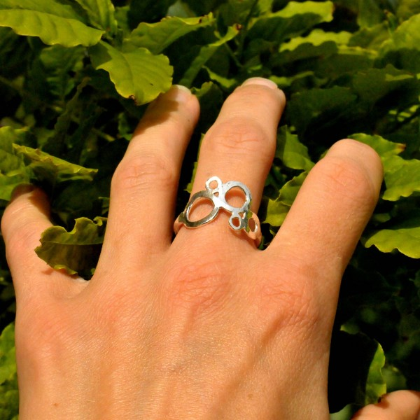 Sterling Silber Bläschen Awa Ring AWA 67,00€