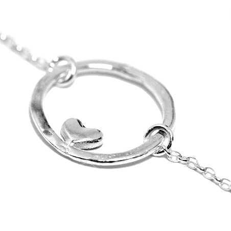 Petit bracelet coeur violet Valentine réversible en argent 925 Valentine 37,00€