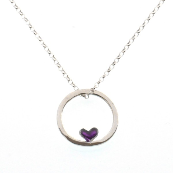 Valentine small reversible heart necklace. Sterling silver.  Valentine 39,00 €