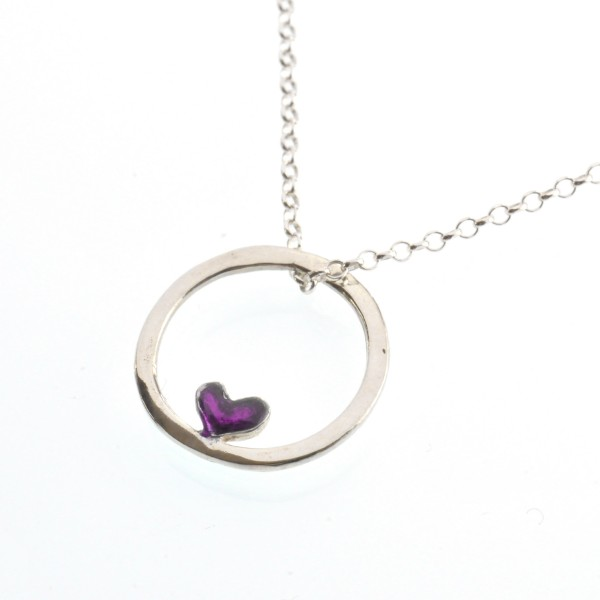 Winter Garden reversible necklace. Sterling silver.