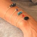 Schwarzer Kirschblumen Armband. Sterling Silber. COLLIERS