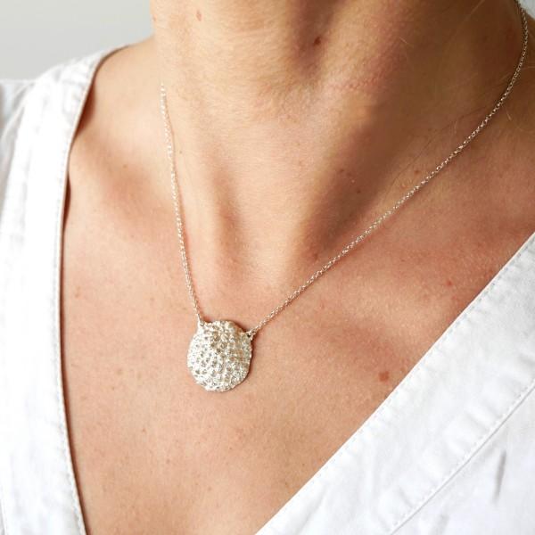 Schöne grosse Litchi Sterling Silber Halskette Desiree Schmidt Paris Litchi 77,00€