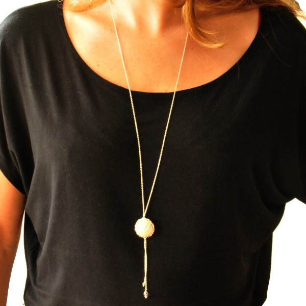 Litchi lange Sterling Silber Halskette Desiree Schmidt Paris Litchi 97,00€
