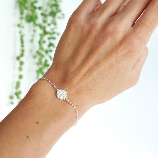 Kleiner Litchi Sterling Silber verstellbarer Armband Litchi 45,00€
