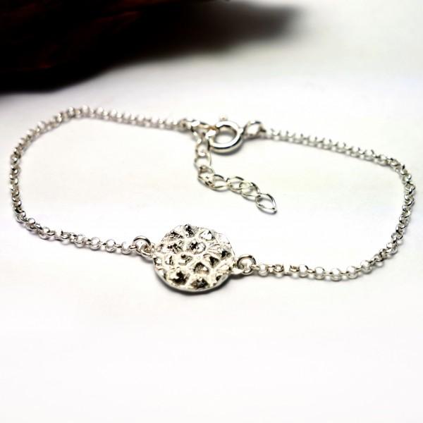 Petit bracelet réglable Litchi en argent massif 925/1000  Litchi 55,00€