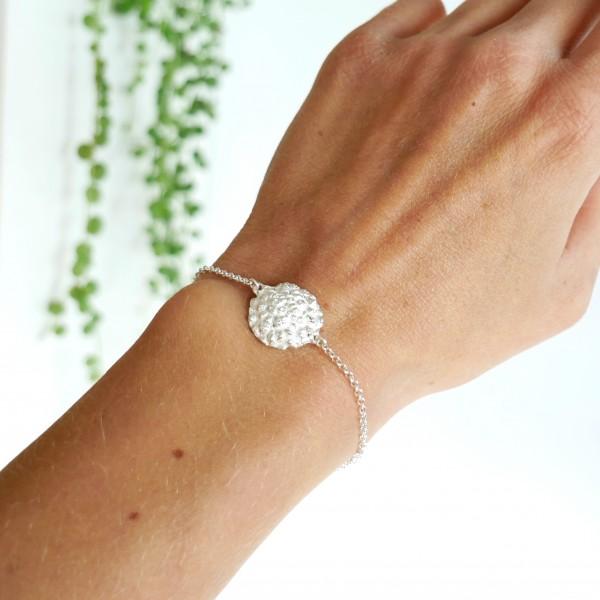 Grand bracelet Litchi en argent massif Litchi 65,00€