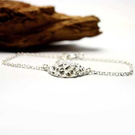 Hübscher Litchi Sterling Silber verstellbarer Armband Litchi 65,00€
